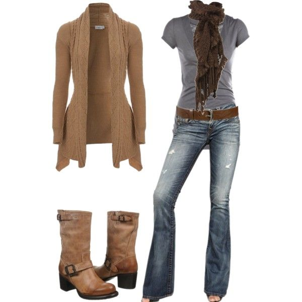 A fashion look from October 2012 featuring True Religion jeans, Frye shoes and Jane Norman scarves. Browse and shop related looks.