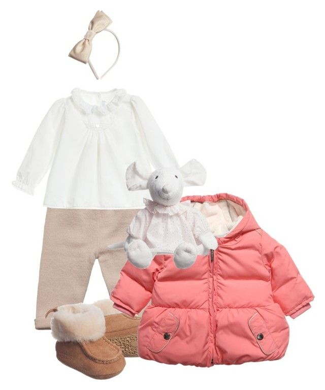 """""""Little Girls' Winter Outfit"""" by pinkandgoldsparkles ❤ liked on Polyvore featuring Liberty, Tartine et Chocolat, UGG Australia and Burberry"""