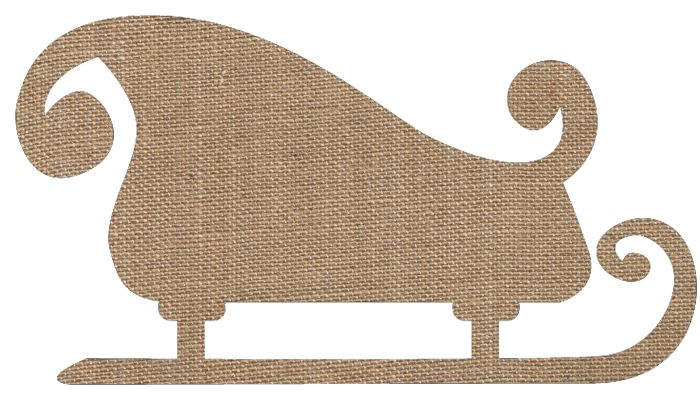 Knick of Time | Santa's Sleigh Printables in Plaid, Burlap, French Script, and Corrugated Cardboard | http://knickoftime.net