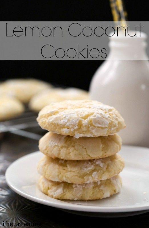 Lemon Coconut Cookie Recipe - i heart eating