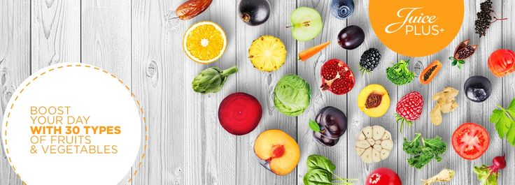 Juice PLUS+® is composed of 26 types of fruits, vegetables and berries. Shop online today and try the next best thing to fruits and vegetables.
