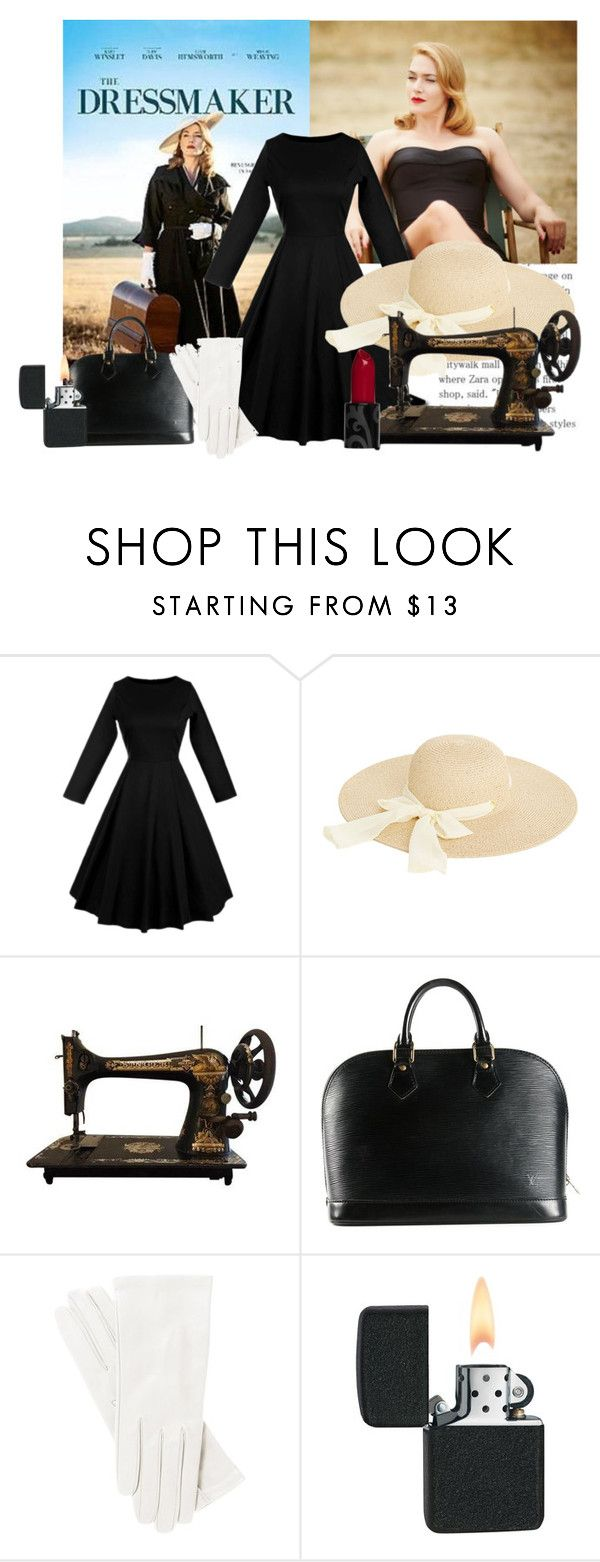 """""""The dressmaker"""" by dimitra21 ❤ liked on Polyvore featuring Oasis, Louis Vuitton, vintage, country, movie, film and thedressmaker"""