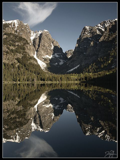 Death Canyon Reflected in Phelps Lake by Dan.Heacock, via Flickr; Grand Teton National Park, Wyoming