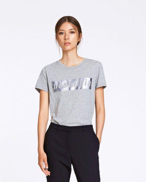 NYHET Issy T-skjorte Grå - Samsøe & Samsøe