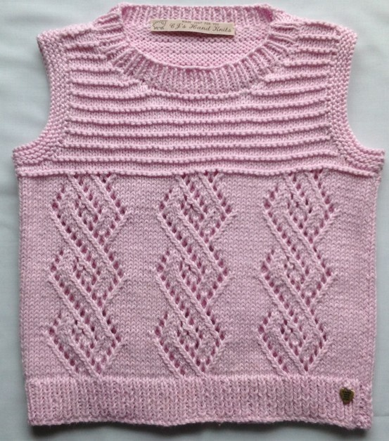 Girls Tank Top by CJsHandknits on Etsy, £15.25 Hand Knitted in 100% very soft Cotton. Worn as a Top on a hot summers day or over a T-Shirt or Shirt in the Spring. To fit Chest 56 cm(22 inches) Actual Chest Measurement 64 cm(25 1/4 inches) Full Length 34 cm(13 1/2 inches) Approximate Age 2-3 years.  by CJsHandknits