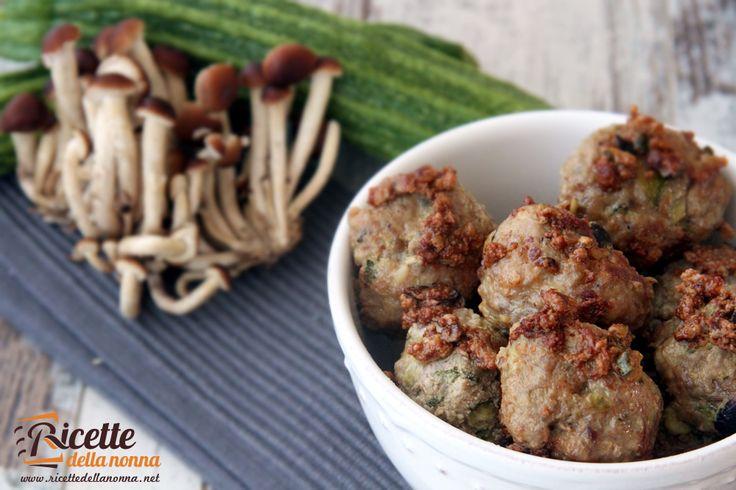 Polpette zucchine e funghi - Zucchini and mushrooms meatballs