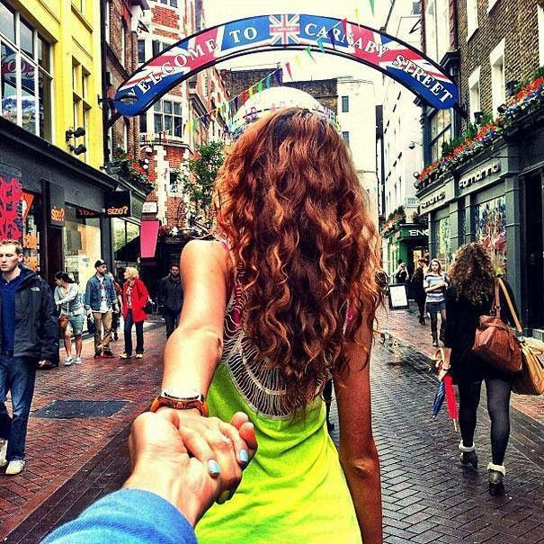 Best Follow Me Around The World Images On Pinterest Follow - Guy photographs his girlfriend as they travel the world