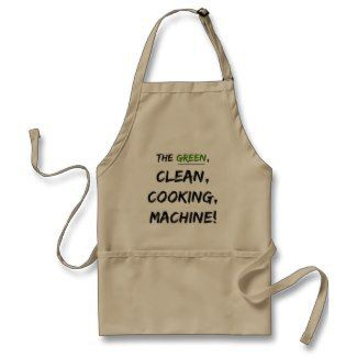 Green Cooking Machine Apron