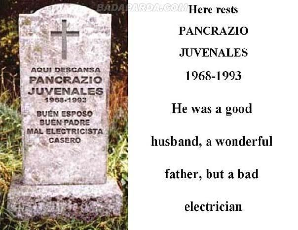 Headstone Inscriptions | Funny Tombstone Inscriptions