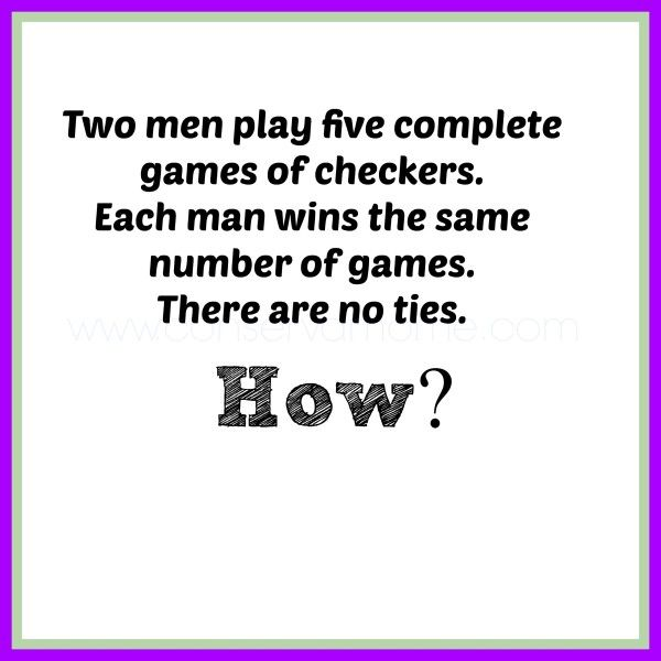Riddle of The Day - ConservaMom