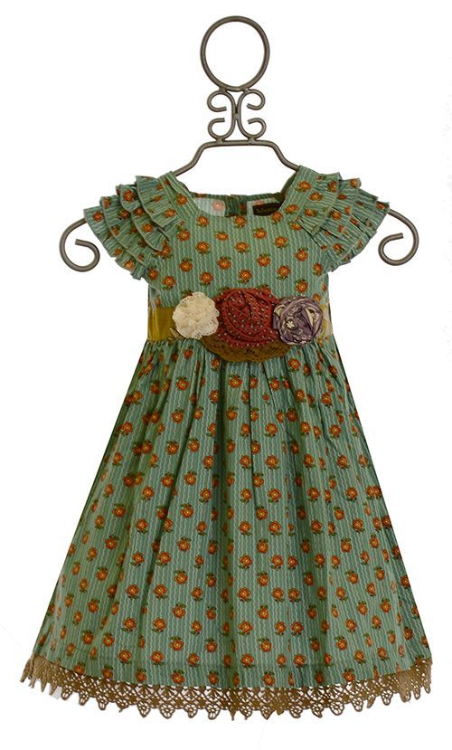 Mustard Pie Party Dress Green Delphine (Size 24Mos)