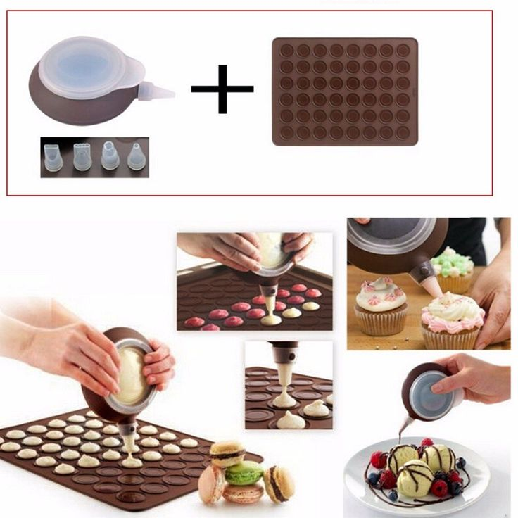 Features: Brand new and high quality Silicone Macaron Mould Kit Flexible food-grade silicone macaron baking mat, eco-friendly and non-toxic A special heat-reflective exterior and premium nonstick surf