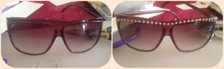 Before and after, pearl sunnies