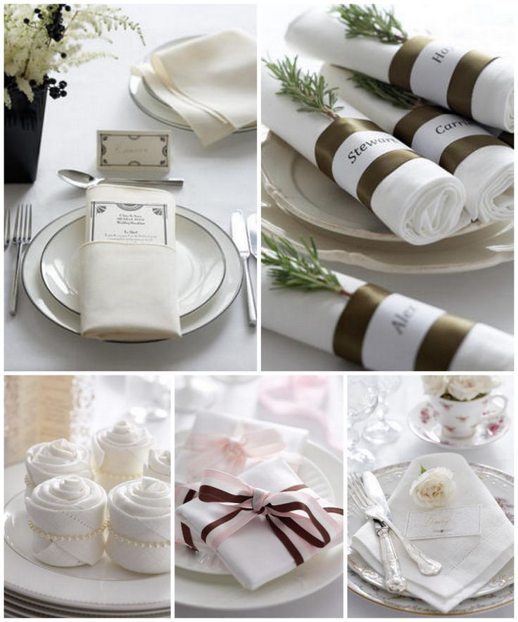 Diy Wedding Project Style Your Napkins
