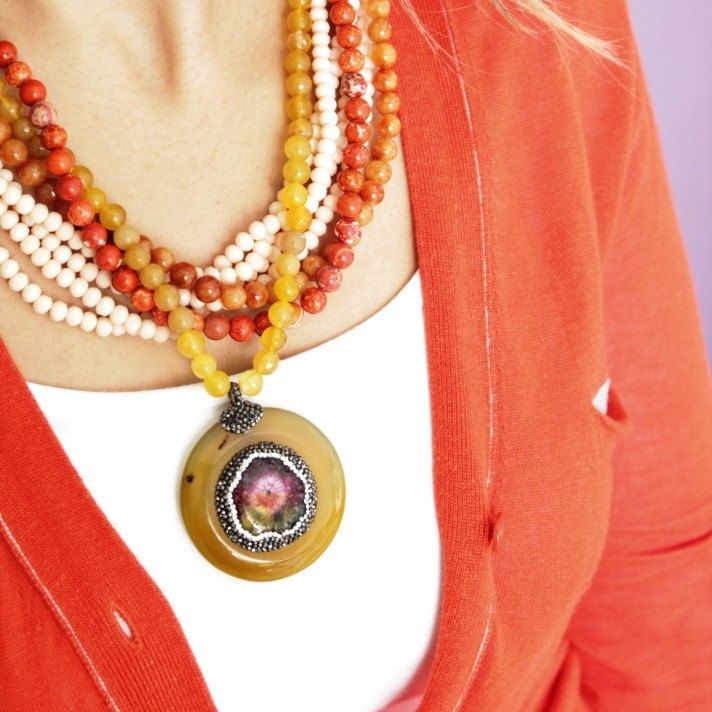 Madelion Agate Necklace