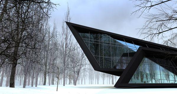 House In The Forest by Beka Pkhakadze, via Behance