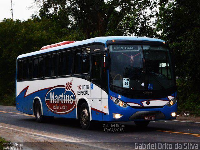 Ônibus da empresa Martins Rent a Car, carro 19211088, carroceria Marcopolo Ideale 770, chassi Volkswagen 17.230 EOD. Foto na cidade de Manaus-AM por Gabriel Brito da Silva, publicada em 22/09/2016 10:53:55.