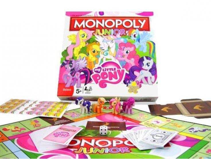 Winning Moves Monopoly Junior My Little Pony - Gra dla małych dzieci - Satysfakcja.pl