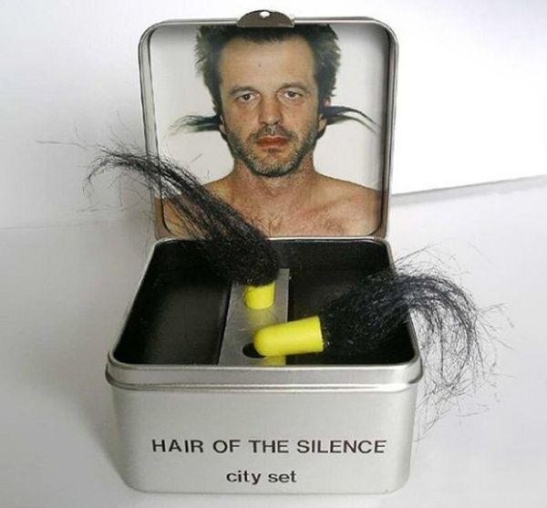 Hair-of-the-Silence-Earplugs.... For Christmas gag gift.