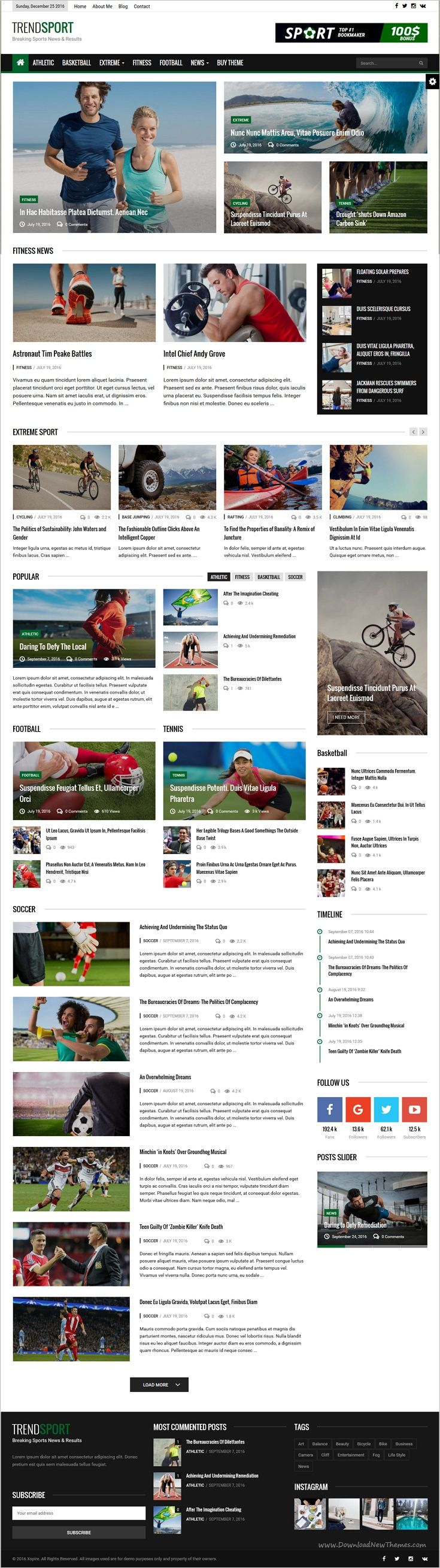 Trend is an amazing responsive #WordPress template for #sports #Newspaper, blog and #magazine website with 6 niche homepage layouts download now➩  https://themeforest.net/item/trend-news-responsive-magazine-theme/18620258?ref=Datasata