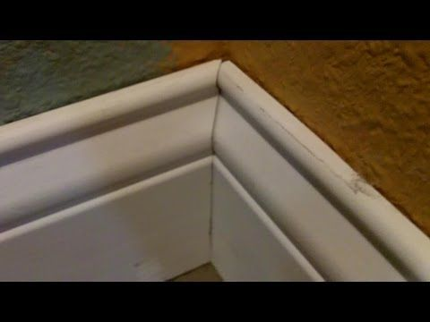 A Simple Trick to Install Baseboard Corners Perfectly - YouTube