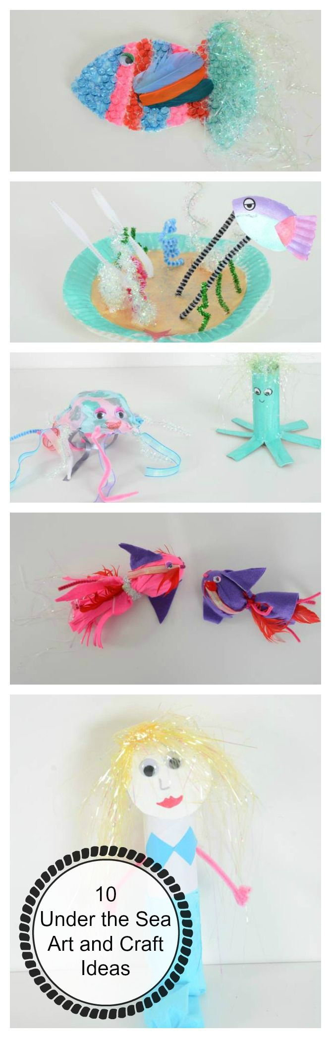Fun crafts for an Under the Sea  classroom display #LearningIsFun