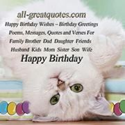 Happy Birthday Wishes Greetings Cards For Family Friends Poems, Messages On Facebook https://www.facebook.com/pages/Happy-Birthday-Wishes-Greetings-Cards/392120920809588