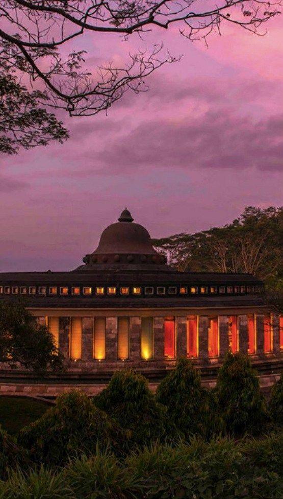 Inspired by the design of Borobudur Temple, the Reception of Amanjiwo Resort Yogyakarta.