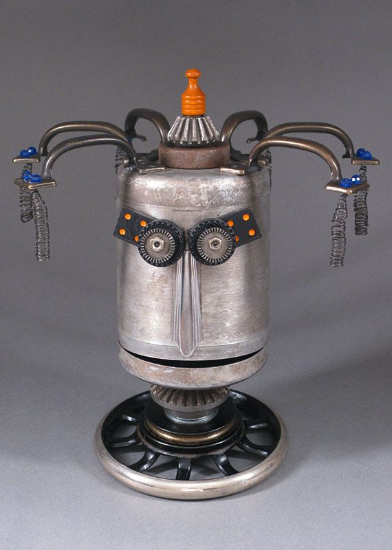 Robot Sculpture  Metal art sculpture Junk by CastOfCharacters23, $110.00