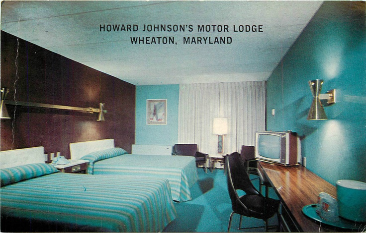 Wheaton Md Howard Johnson S Motor Lodge Room View Vintage
