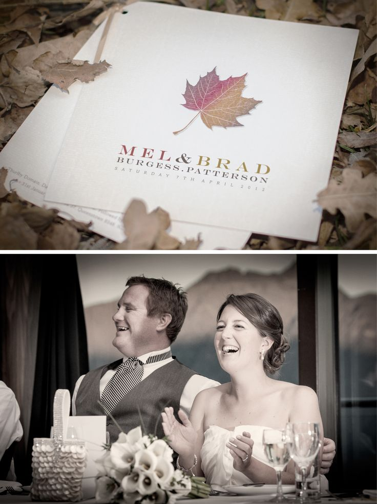 A beautiful autumn wedding invitation for Mr & Mrs Patterson!