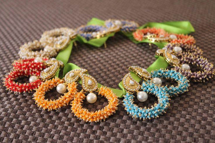Colorful hoop earings!  https://www.facebook.com/JhumkhaJewels