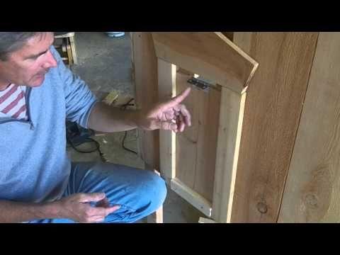 A simpler self-locking predator-proof sliding chicken coop door concept - YouTube