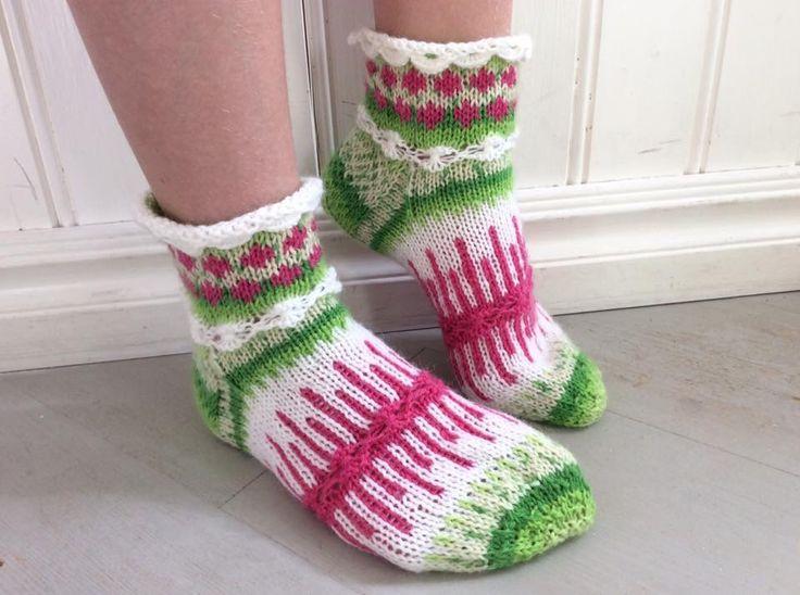 """Marsa's midsummer socks """"Juhannus"""""""