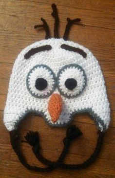 Olaf crochet hat
