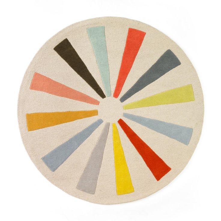 23 best images about mid century rugs on pinterest round for Round rugs for kids