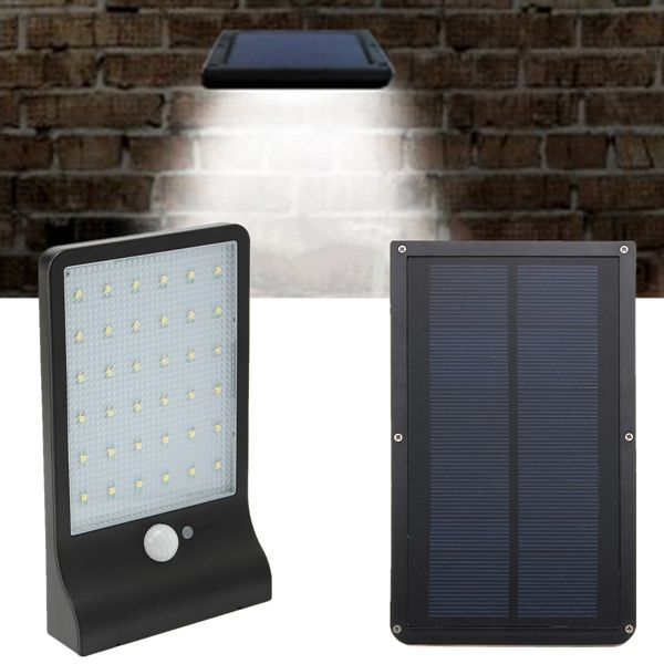 Solar Powered Waterproof 36 Led Pir Motion Sensor Wall Light Outdoor Garden Lamp Garden Lamps Solar Lights Diy Outdoor Lighting