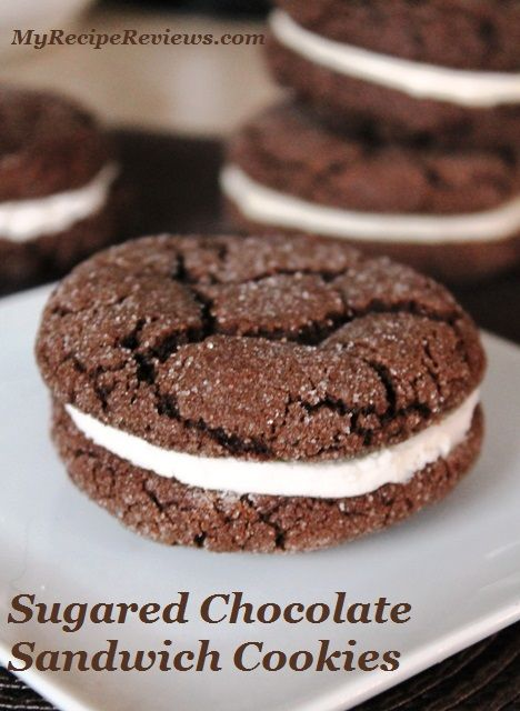 Chocolate Sandwich Cookies With Peppermint Buttercream Filling Recipe ...