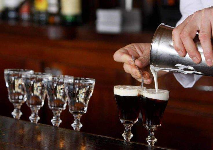"Irish Coffee The Buena Vista (address and info) San Francisco, CA ""The ultimate Irish coffee is at The Buena Vista on the waterfront in San Francisco. They literally make hundreds and hundreds every day. The Irish coffee thing started when original owner Jack Koeppler's buddy Stanton Delaplane -- a 53-year vet of the SF Chronicle -- encountered the drink in Ireland and convinced Koeppler that he needed to serve it in his joint."""