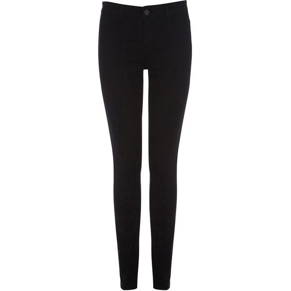 OASIS Black Jade Superskinny Jeans (1.570 UYU) ❤ liked on Polyvore featuring jeans, black, oasis jeans, mid rise jeans, stitch's jeans and jade jeans