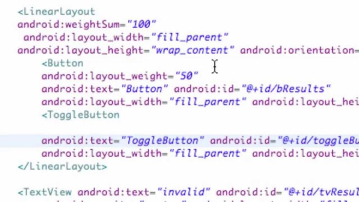 Android Application Development Tutorial 23 XML ToggleButton WeightSum and Layout Weight Android Application Development Tutorial 23 XML ToggleButton WeightSum and Layout Weight