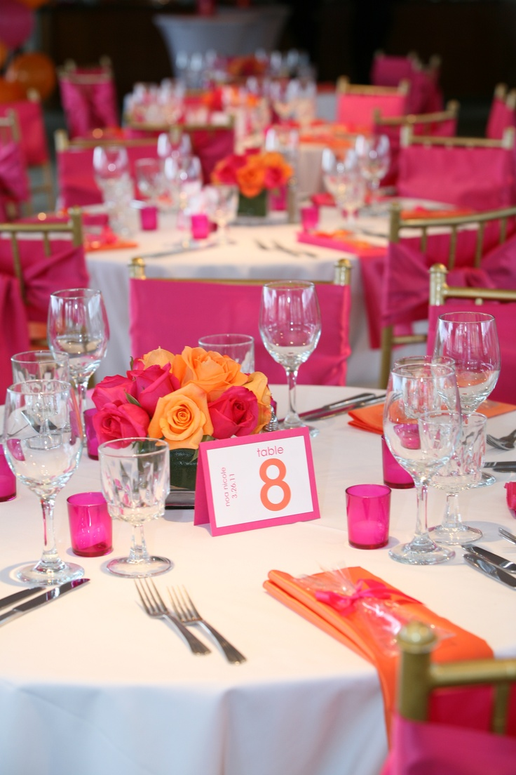 Pink & Orange Theme ~ Bat Mitzvah by Hornblower Cruises & Events, Los Angeles, CA