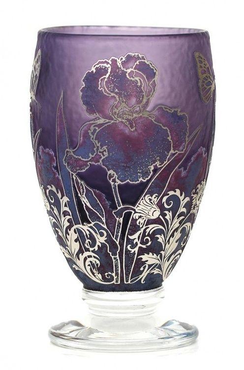 Silver Hyacinth Iris Vase - Jonathan Harris