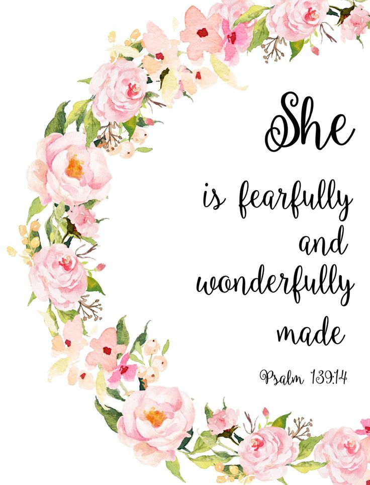Girl Nursery Bible Verses Fearfully and Wonderfully Made