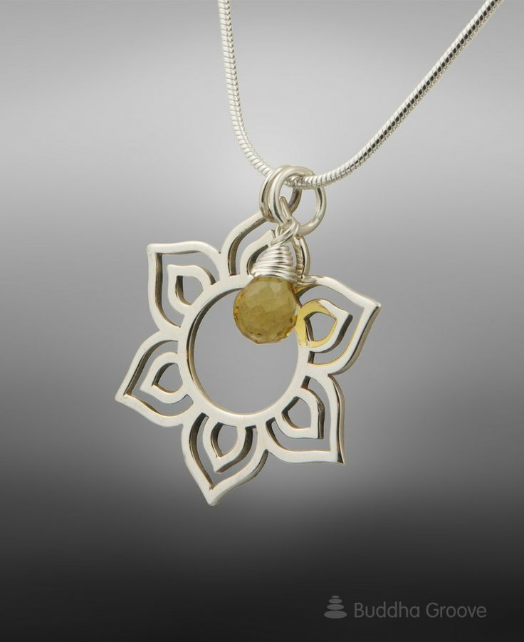 302 best spiritual jewelry images on pinterest spiritual jewelry handmade sterling silver lotus pendant necklace with citrine gemstone representing enlightenment made in thailand mozeypictures Choice Image