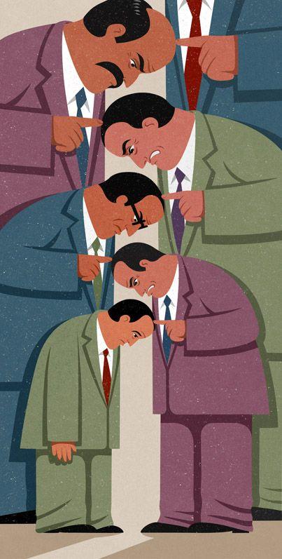 Jefes y sus cadenas de frustración.