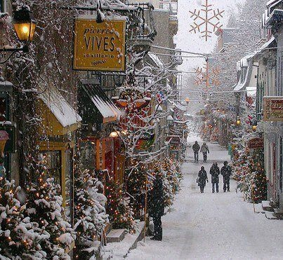 If this isn't a Christmas scene, I don't know what is.Old Quebec Street - Montreal, Quebec, Canada
