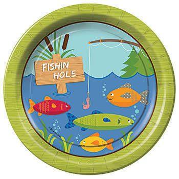 Gone Fishin' Dinner Plates Pkg/8