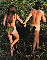 Adam and Eve hippies - I didn't do this lol - but others in my generation did!