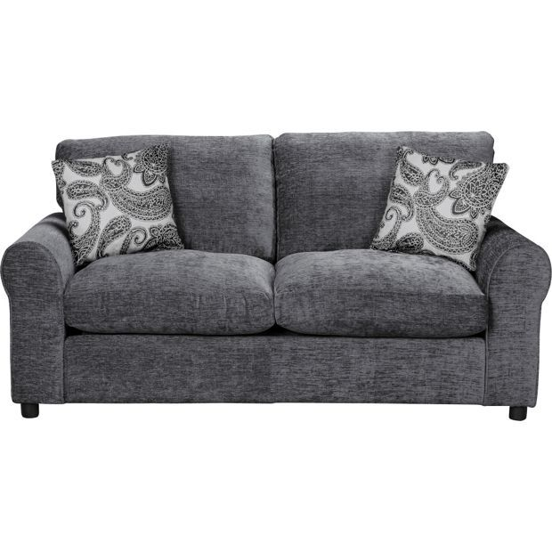 Buy HOME Tabitha Fabric Sofa Bed - Charcoal at Argos.co.uk, visit Argos.co.uk to shop online for Sofa beds, chairbeds and futons, Sofas, armchairs and chairs, Home and garden